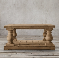 Столы Restoration Hardware Balustrade Salvaged Wood Square Coffee Table