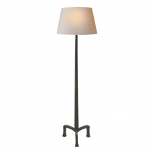 Торшеры Visual Comfort E.F. Chapman Strie Floor Lamp in Aged Iron with Natural Paper Shade