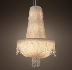 Люстры Restoration Hardware 1930S French Crystal Beaded Chandelier 21
