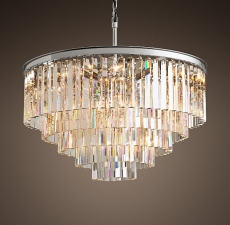 Люстры Restoration Hardware 1920S ODEON CLEAR GLASS FRINGE 5-TIER CHANDELIER