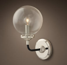 Бра Restoration Hardware BISTRO GLOBE CLEAR GLASS SINGLE SCONCE