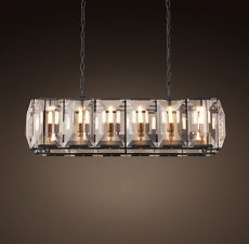 Люстры Restoration Hardware Harlow Crystal Rectangular Chandelier 42