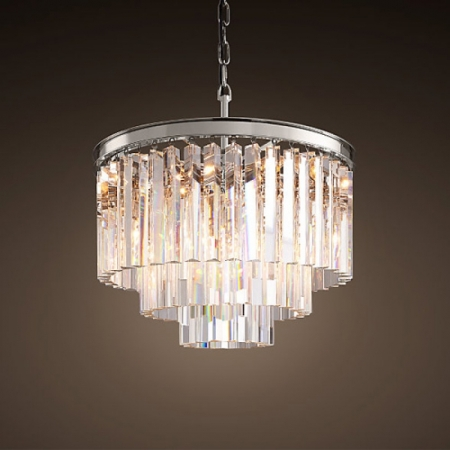Люстры Restoration Hardware 1920S ODEON CLEAR GLASS FRINGE 3-TIER CHANDELIER