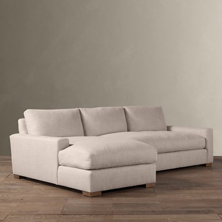 Диваны Restoration Hardware Maxwell Upholstered Left-Arm Sofa Chaise Sectional